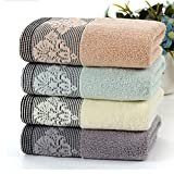 TOWEL Double sided towel, High-quality soft absorbent towel (4 piece/packet, 35 * 73cm) Home And Hotel Bathrobes ( Color : Orchid )