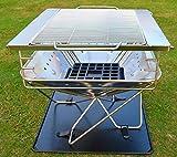 Al aire libre Caravan barbacoa Grill Acero Inoxidable parrilla de carbón de suministros Red combustión chimenea-Barbacoa de carbón vegetal