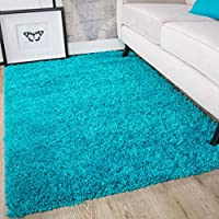 Ontario Soft Warm Thick Shaggy Shag Fluffy Living Room Area Rug by The Rug House