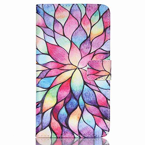 Cozy hut Leder Tasche Folio Book Case für LG G Stylo/ LG G4 Stylus/LG L S770 Stylus silikon Weich Rückschale Protektiv Schutz Hülle Phone Case TPU Card holder function mit Bracket - Farbe Lotus