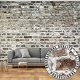 FOTOTAPETE ZIEGEL 400x280 cm - VLIES TAPETE PREMIUM - PROFI QUALITÄT - VIELE MOTIVE ! - Top moderne Wanddeko - Riesen Wandbild - Top Design Tapete - Neue exklusive Edition mit noch besser Druckauflösung - Deutsches Premium Vlies - Steintapete Steine Brick Mauer Beton 3D f-A-0411-a-b