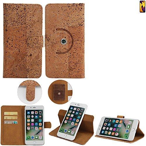 K-S-Trade Schutz Hülle für Huawei P20 Lite Dual-SIM Handyhülle Kork Handy Tasche Korkhülle Handytasche Wallet Case Walletcase Schutzhülle Flip Cover Smartphone