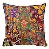 DSL&HXY Mexico Mexican Mayan Tribal Art Boho Travel Throw Pillow Case