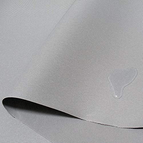 TOLKO MarkisenStoff u Bootsverdeck-Stoff | wasserdicht reißfest farbecht | mit UV-Sonnen-Schutz | Meterware am Stück - 180cm breit (Grau Bicolor)