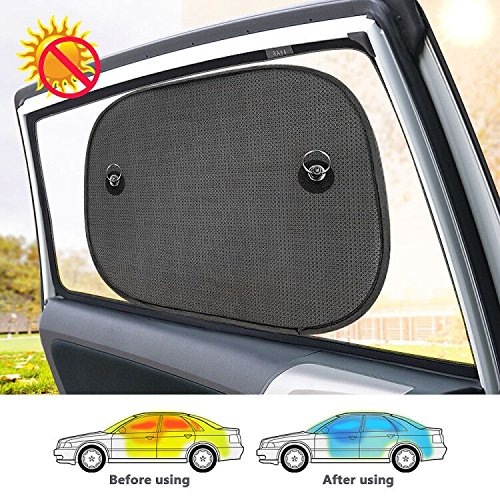SPECOOL Car Window Sun Shades Paquete 5 - Tamaño