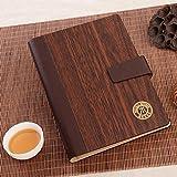 MNII haut de gamme nouveau élégant cahier en bois A5 retro notebook création tendance , brown- outils d'apprentissage...