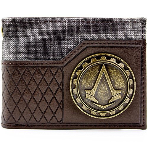 Ubisoft AC Syndicate Gold Crest Braun Portemonnaie (Muster Assassine Kostüm)