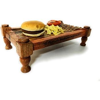 Ek Do Dhai Khaat Wood Platter, Multicolour