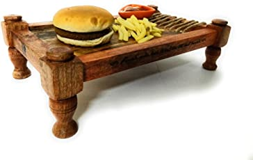Ek Do Dhai Khaat Wood Platter, Multicolour