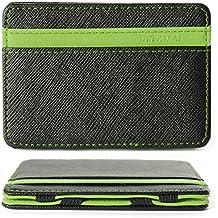 XCSOURCE® Billetera Mágica Efectivo Identificación Tarjetas Crédito Delgada con Broche para Hombre MT179
