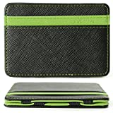 XCSOURCE Portafoglio Magico in simili cuoio - magic wallet Credit Card Holder - porta moneta --Verde immagine