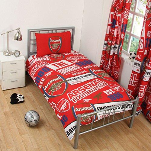 FC Arsenal Patch einzelner Bettbezug und Kopfkissenbezug Set (Fc-patch Arsenal)