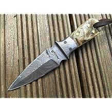 Cuchillo de bushcraft cuchillo de caza pequeño cuchillo de damasco