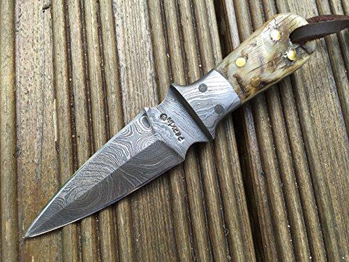 Perkin Knives Damastmesser Jagdmesser Damaststahl Jagdmesser - kleine Jagdmesser