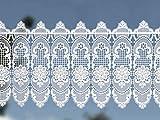Scheibengardine Landhausgardine' Blume' 33 x 100 cm weiß aus Spitze