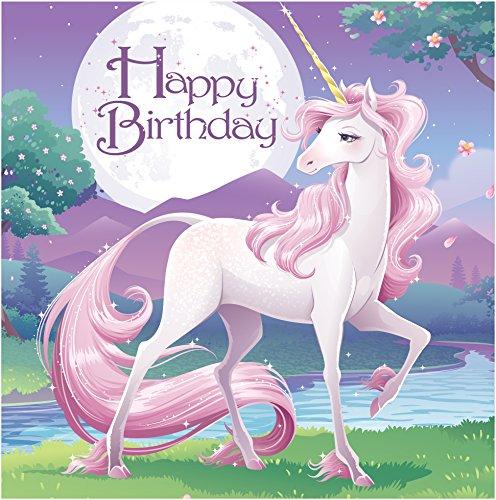 Creative Converting Schmetterling Sparkle Happy Birthday Lunch-Servietten, 16Count Lunch Unicorn Fantasy (Unicorn Papier-servietten)