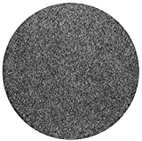 havatex Rasenteppich Kunstrasen mit Noppen 1550 g/m² rund - | robuster Nadelfilz | wasserdurchlässig strapazierfähig | Balkon Terrasse Camping, Farbe:Anthrazit, Größe:133 cm rund