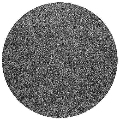 havatex Rasenteppich Kunstrasen mit Noppen 1550 g/mu00b2 rund - | robuster Nadelfilz | wasserdurchlässig strapazierfähig | Balkon Terrasse Camping, Farbe:Anthrazit, Größe:300 cm rund