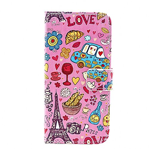 Più colorate Ancerson in pelle PU Flip Custodia Cover per Apple iPhone 6 4,7 inch in pittura ad olio Stil Colorful Painting Flip Case Custodia in similpelle custodia per cellulare con supporto scompar Cartoon