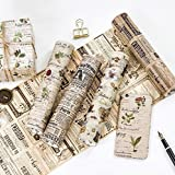 JSGDJD Klebeband 4 Stk./Pack 20CM BREIT Zeitung Molkerei Sache dekorative Washi Tape Klebeband DIY Scrapbooking Sticker Label Abdeckband - 4.