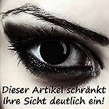 Schwarze Halloween Zombie Kontaktlinsen Model: Blind Black schwarze Farblinsen