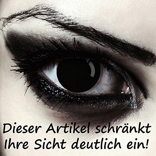 Schwarze farbige Halloween Zombie Kontaktlinsen ohne Stärke Model: Blind Black schwarze Farblinsen