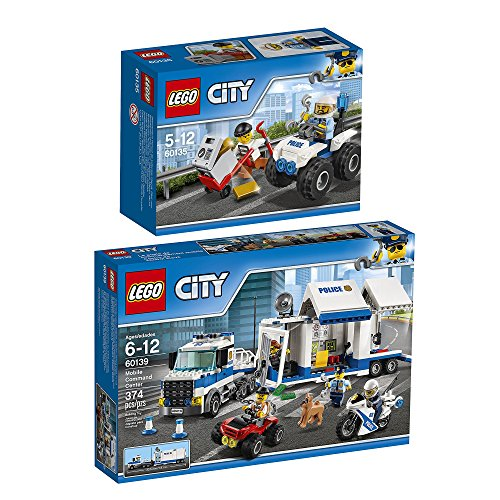 Lego City Set en 2 parties 60135 60139 L'Arrestation en Tout-Terrain + Le Poste de Commandement Mobile