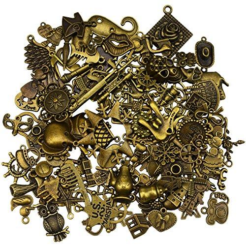 100 Stück antike Bronze- Jahrgang Charme DIY handgemachte Accessoires Halskette Anhänger Schmuck machen Lieferungen