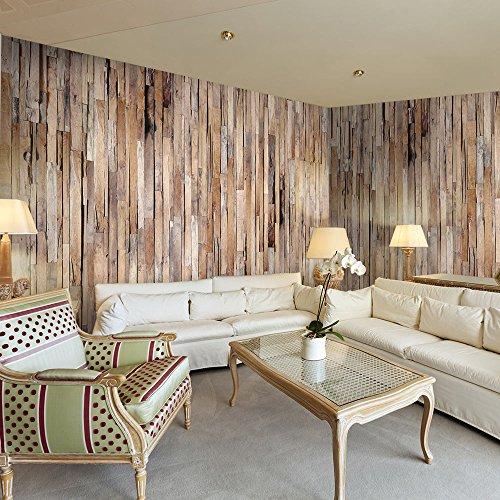 PURO TAPETE | 3 Motive zur Auswahl | Realistische Holzoptik Tapete ohne Rapport und Versatz | Kein sich wiederholendes Muster | 10m VLIES Tapetenrolle | Holz f-A-0205-j-c