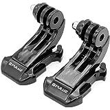 Hensych 2 st svart vertikal yta J-krok spänne monteringssats för GoPro 7/6/5/4/3/2/1-serien, bröstrem hjälm frontmontering fö
