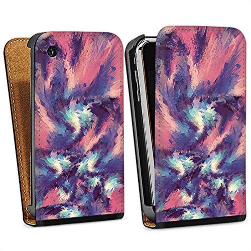 Apple iPhone 5 Housse Étui Protection Coque Couleurs Motif Motif Sac Downflip noir