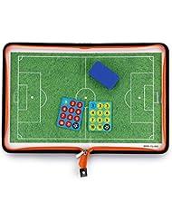 Sumnacon Entraîneur de Football Tableau Magnétique avec Morceaux et Gomme Aimant, Planche Stratégique pour Entraîner de Football Compétition