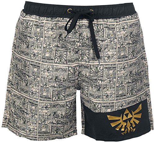 The Legend of Zelda Story Of The Hero Swim trunks black-beige L