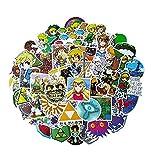 De legende van Zelda Stickers, Vsco Anime Laptop Stickers en Stickers voor Auto Waterflessen Schakelaar Hydro Flasks Computer, Kerstmis Nieuwjaar Cadeau voor Kinderen Tieners Vrienden Volwassenen, Waterdicht Vinyl 47-Pack
