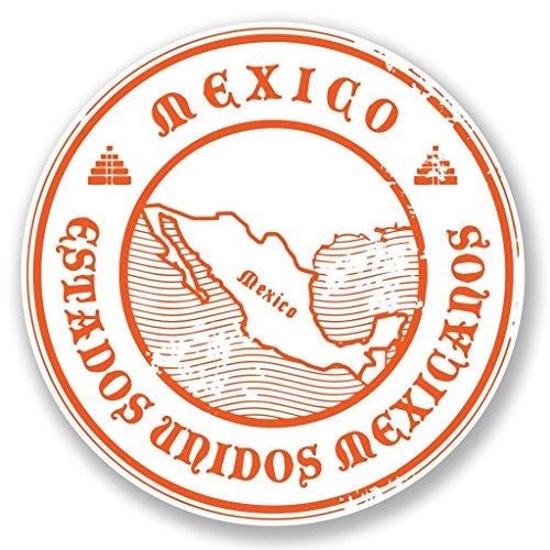 DestinationVinyl 2 x 10cm/100mm Mexiko Vinyl Selbstklebende Sticker Aufkleber Laptop Reisen Gepäckwagen Cool Zeichen Spaß #6694 -