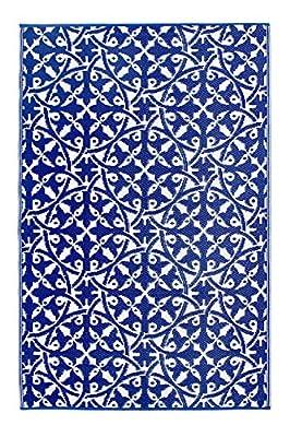 Fab Hab - San Juan - Dark Blue Indoor Outdoor Rug/Mat (150 cm x 240 cm) - low-cost UK light shop.