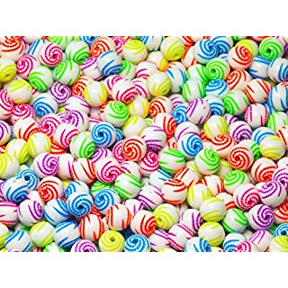 Acryl Perlen Spacer Beads 8mm Multicolor MIX Schmuckperlen Kinderperlen Bastelperlen 50 Stück