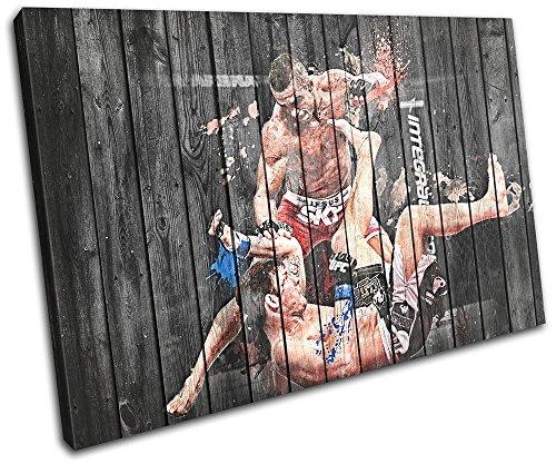 Bold Bloc Design - MMA UFC Vitor Belfort Sports 60x40cm SINGLE Leinwand Kunstdruck Box gerahmte Bild Wand hangen - handgefertigt In Grossbritannien - gerahmt und bereit zum Aufhangen - Canvas Art Print (Sport-bilder Gerahmt)