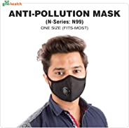 Grin Health N-Series N99 Anti-Pollution Face Mask with Activated Carbon (Black)