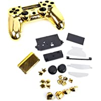 Metalli Placcati Shell Alloggiamento Pieno Sostituzione Kit Pulsante Caso Di Ricambio Per Regolatore Playstation4 PS4…