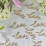 Mesa confeti 'Love' de madera