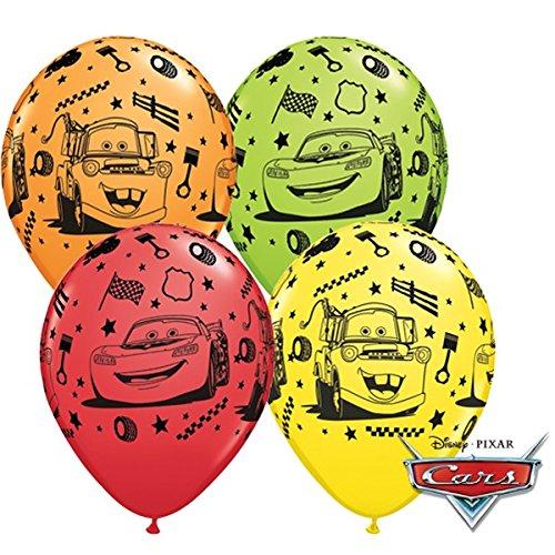 Partyklar 10 Luftballons Cars Lightning McQueen 25cm
