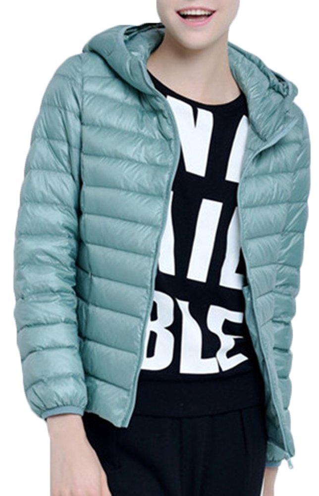 Mochoose Donna Inverno con cappuccio Giù Giubbotto imbottito cappotto Packable ultra leggero 3 spesavip