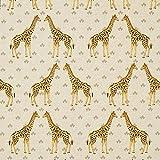 Fabulous Fabrics Dekostoff Halbpanama Giraffe - Natur -