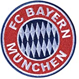 Aufnäher FC Bayern München Emblem - 8 x 8 cm + gratis Aufkleber, Flaggenfritze®