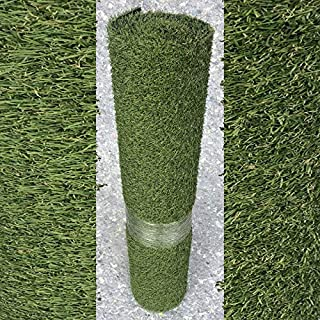 AGD Roll 1m x 4m 17mm Pile Height Carpet Artificial Grass Astro Garden Lawn High Density Fake Turf, Green