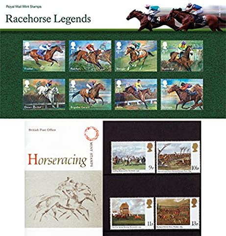 Gift Set of Racehorse Legends (2017) and Horseracing (1979) Stamps