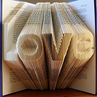 Boyfriend Gift - Girlfriend Gift - Valentine's Day - Anniversary - LOVE - Folded Book - Paper Anniversary - Best Selling - Be My Valentine