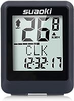 SUAOKI Sport senza fili tachimetro computer cronometro COMPUTER, LCD Ciclismo Bicicletta, Calorie e delle emissioni di CO2, ecc. per ttracking velocità e distanza