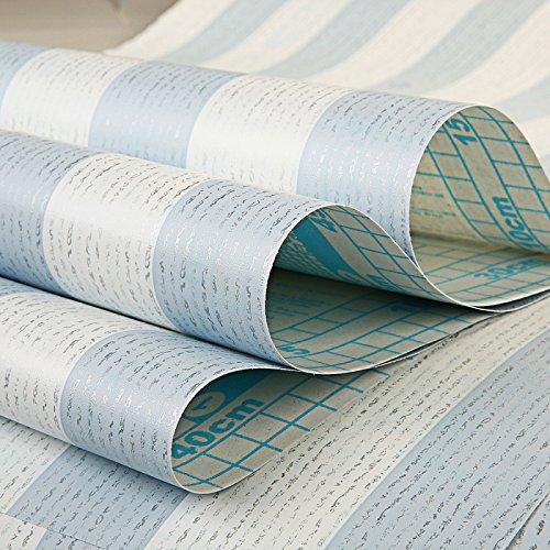 Zhzhco Selbstklebende Pvc-Wallpaper Wallpaper 45Cm*10M Blau Streifen